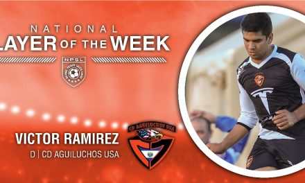 TO VICTOR GO THE SPOILS: NPSL names CD Aguiluchos USA defender Ramirez player of the week