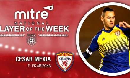 HAT-TRICK HERO HONORED: NPSL names FC Arizona's Mexia player of the week