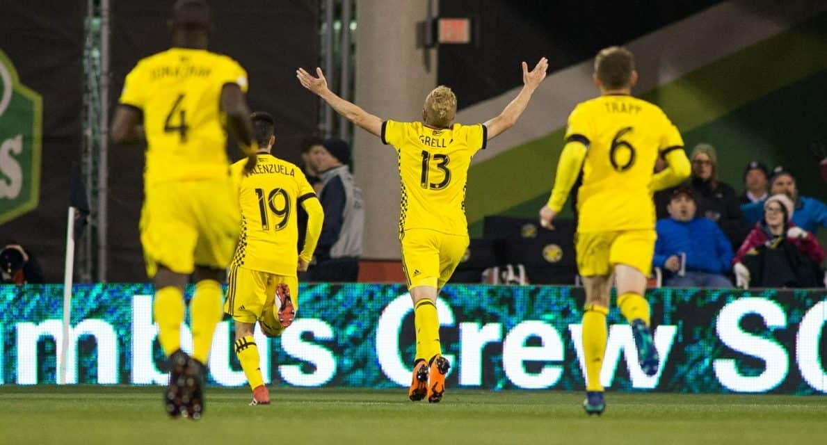 A STORYBOOK BEGINNING: Grella connects for winner in Crew debut