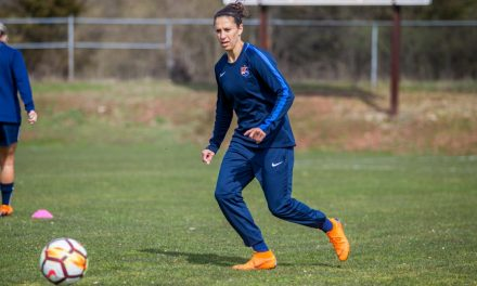 HOME DEBUT: Carli Lloyd in Sky Blue opener Sunday