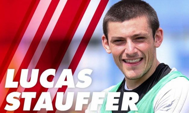 FOR THE DEFENSE: Red Bulls II sign Stauffer