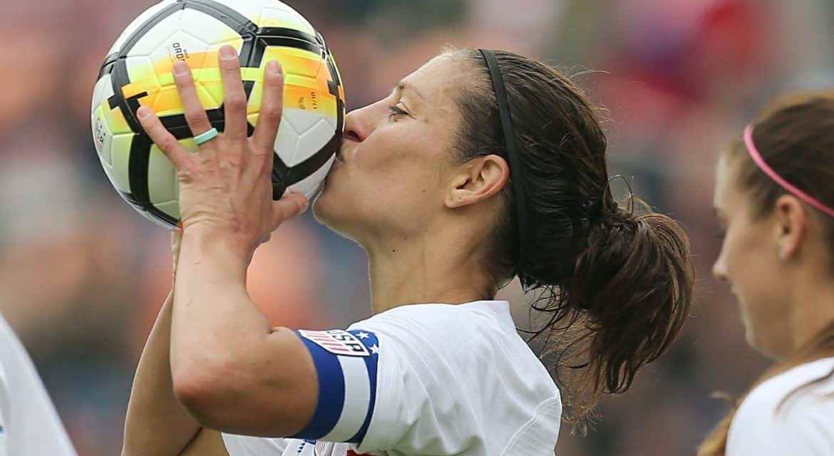 JOINING AN EXCLUSIVE CLUB: Carli Lloyd becomes 6th USWNT player to reach 100 goals
