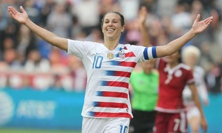 WATCH HISTORY IN THE MAKING: Carli Lloyd scores her 100th international goal