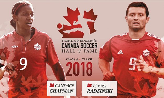 HIGHEST HONORS: Chapman, Radzinski named to Canada Soccer Hall