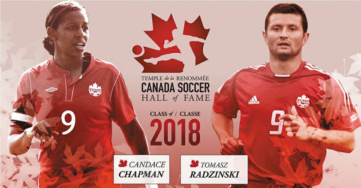 HIGHEST HONORS: Chapman, Radzinski named to Canada Soccer Hall