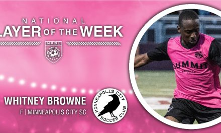 NPSL PLAYER OF THE WEEK: Minneapolis City SC forward Browne is honored
