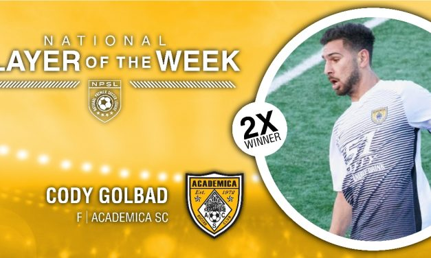 BACK TO BACK: NPSL names Academica's Golbad player of the week again
