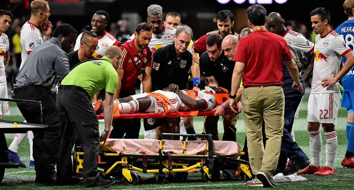 A PYRRHIC VICTORY?: Lawrence, Tyler injured in Red Bulls' win