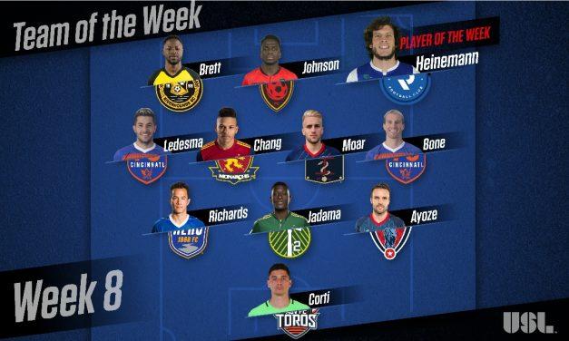 USL PLAYER OF THE WEEK: Penn FC's Heinemann honored; ex-Cosmos Ayoze, Ledesma on team of the week
