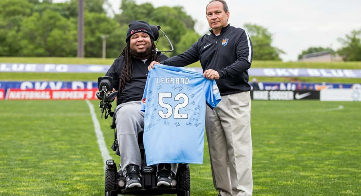 A LEGRAND GESTURE: Ex-Rutgers football player to be Sky Blue honorary captain for May 19 match