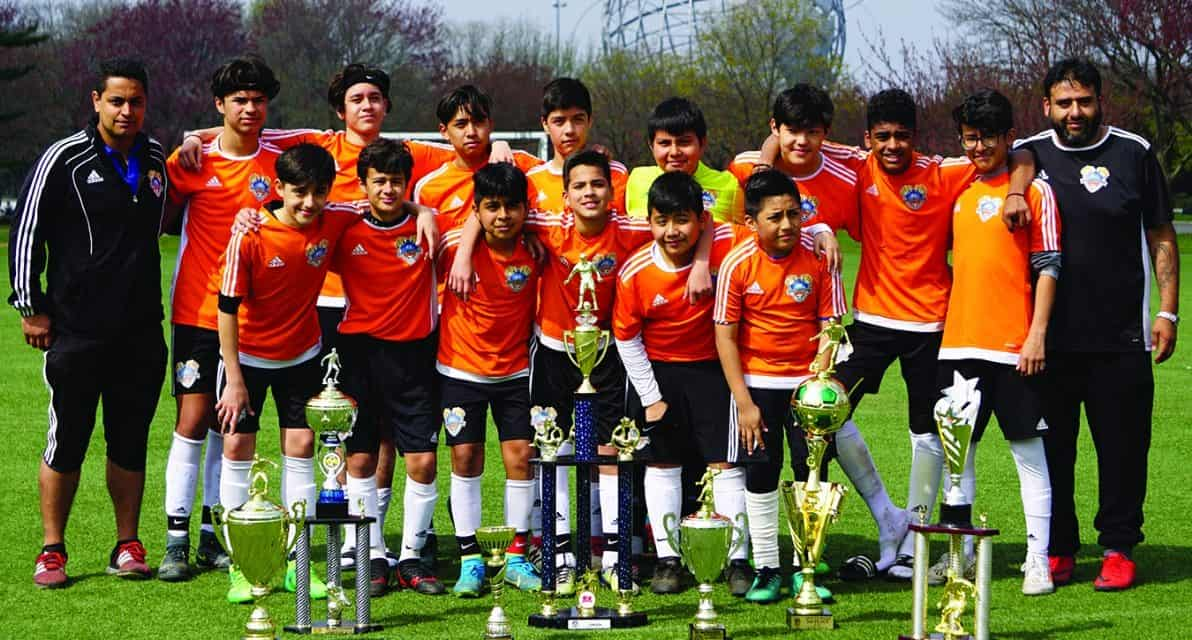 THEY'RE THE BEST: Predators FC 04 wear ENYPL Boys U-14 crown