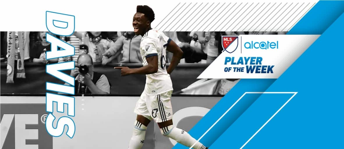 MLS PLAYER OF THE WEEK: Vancouver's Davies gets the nod