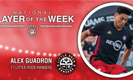 LITTLE ROCK AND A HARD PLACE: Little Rock Rangers' Alex Guadron (4 goals) NPSL player of the week