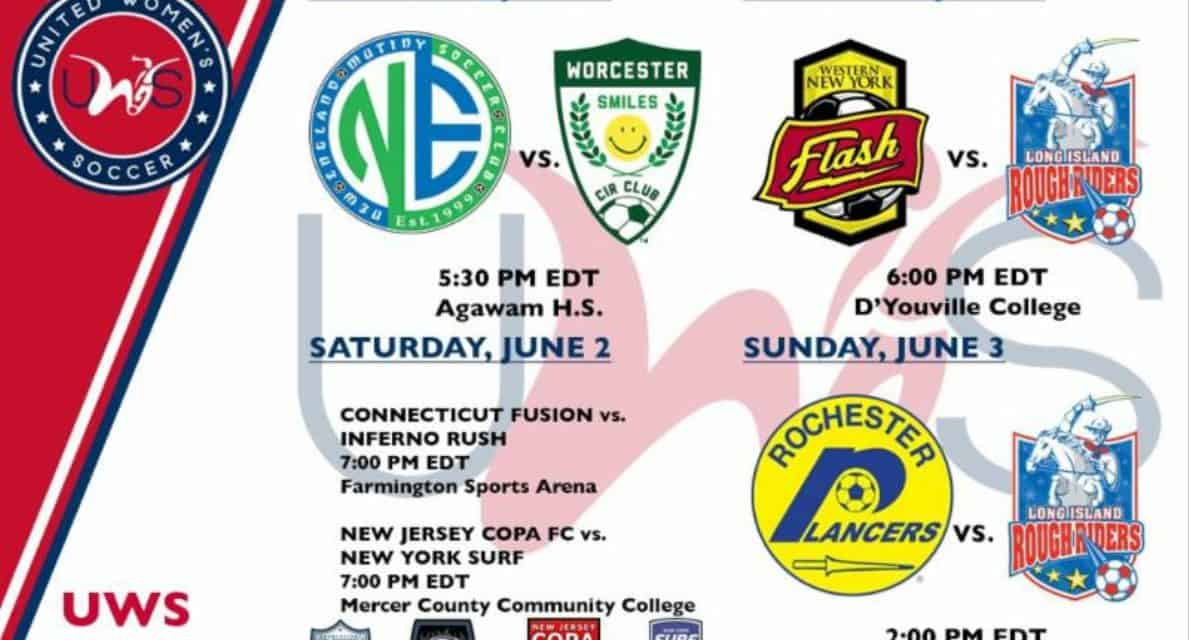 UWS EAST PREVIEW: LI Rough Riders, Lady Lancers, NJ Copa FC, NY Surf in action this weekend