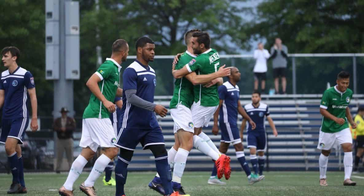 THE LATE, LATE, LATE SHOW Cosmos B survive, defeat Elm City in conference semis