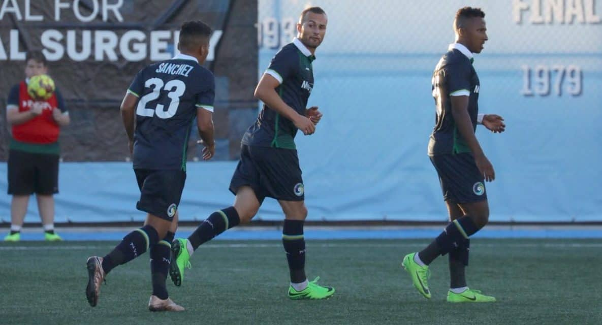 A PERFECT 10: Bardic's hat-trick powers Cosmos B, which finishes at 10-0-0