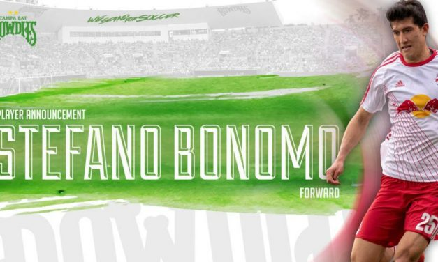 WHEN ONE DOOR CLOSES …: another opens as ex-Red Bull Bonomo signs with the Rowdies
