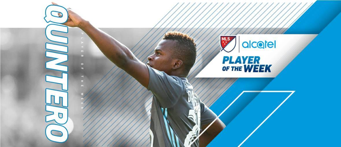 HAT-TRICK HERO HONORED: MLS names Minnesota's Quintero player of the week