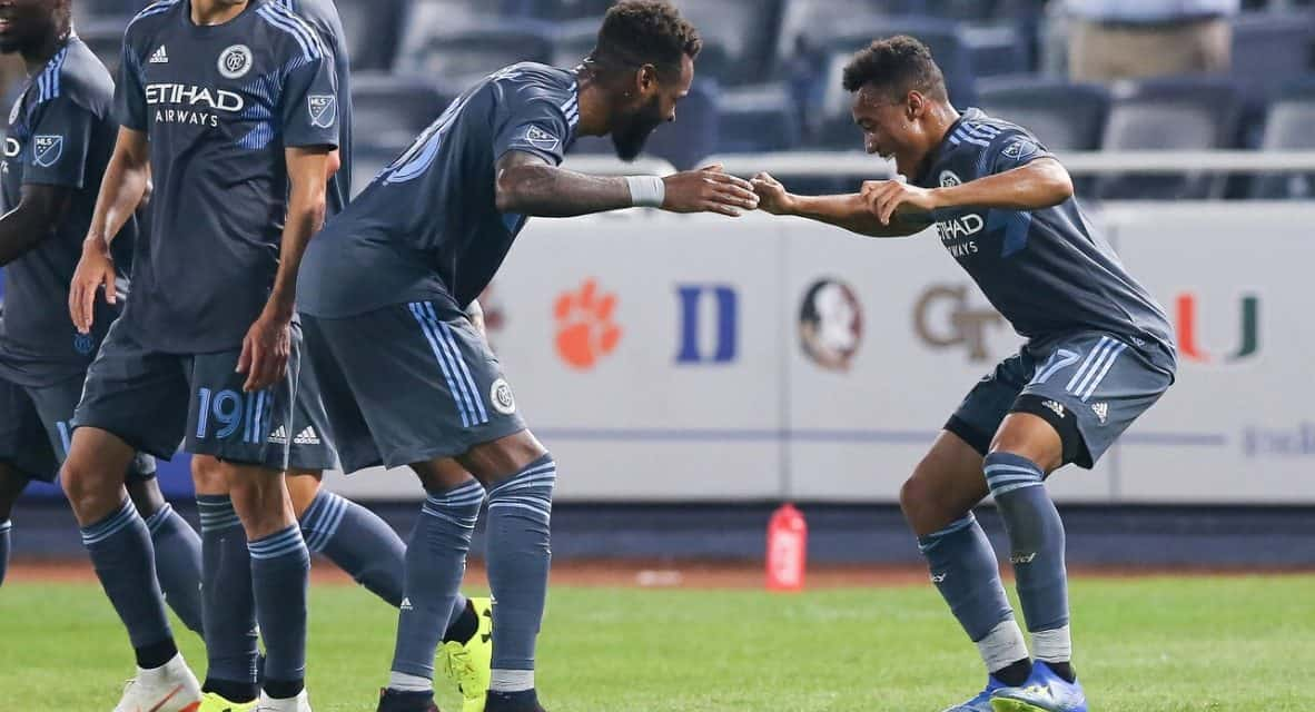 MAKING MORE OF AN IMPACT: Lewis staying focused coming off bench, helping NYCFC attack