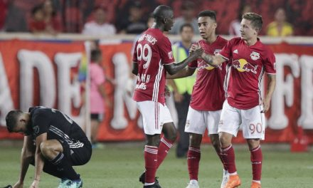 BRACE FOR IT:  Rzatkowski's 2 goals lift Red Bulls to comeback win over SKC