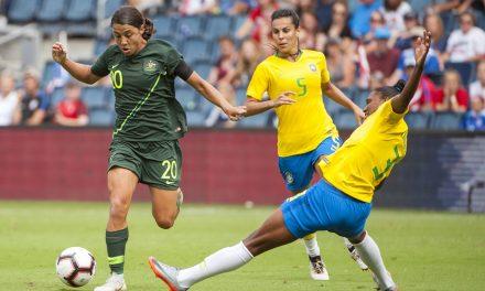 SOLID EFFORT: Australia downs Brazil in Tournament of Nations opener