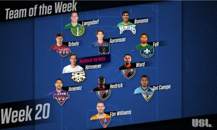 USL PLAYER OF THE WEEK: Charleston's Rittmeyer (1st 2 pro goals) earns the honor
