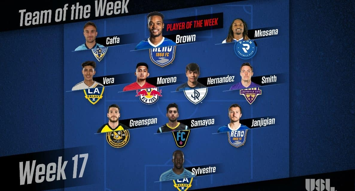 LEAGUE HONORS: USL names Reno 1868 FC's Brown player of week