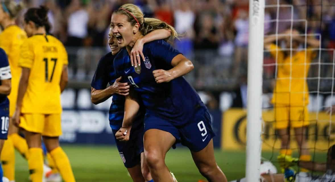 IN THE NICK OF TIME: Horan's last-minute header lifts U.S. women into tie with Australia