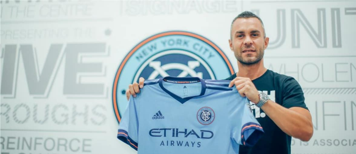 AN OLD FRIEND: Torrent brings Amagat to NYCFC; whom he coached at Girona FC