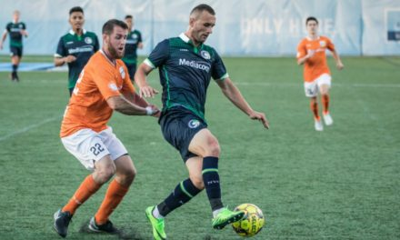 A BARDIC BLAST: Cosmos B forward strikes 4 times in Cedar Stars' 7-1 win