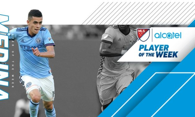 TOP HONORS: MLS names NYCFC's Medina player of the week