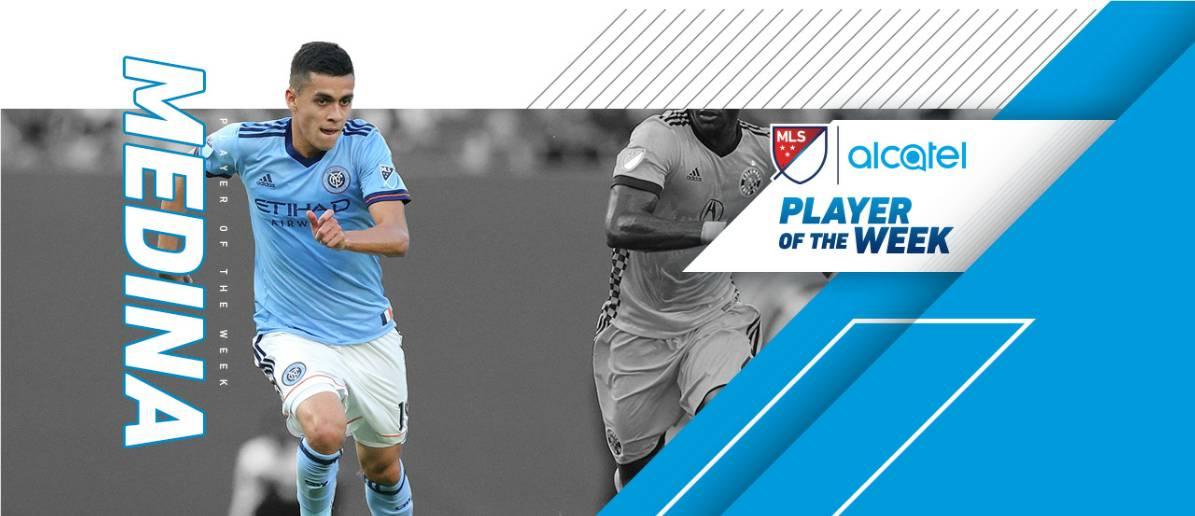 TOP HONORS: MLS names NYCFC's Medina player of the week