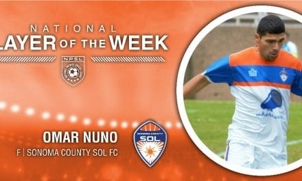 NPSL PLAYER OF THE WEEK: Sonoma County Sol FC's Omar Nuno is honored