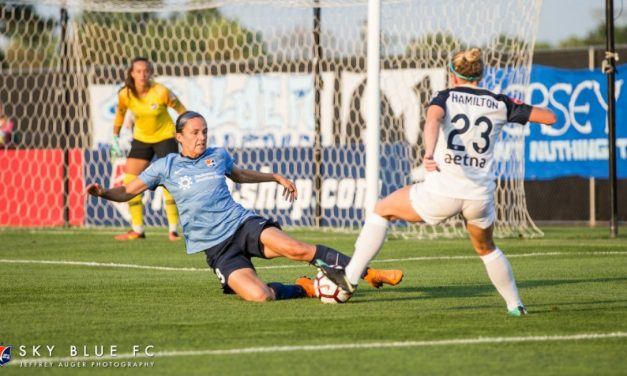 TWO TEAMS, TWO DIFFERENT DIRECTIONS: Courage clinches playoff berth, Sky Blue FC almost out of the picture