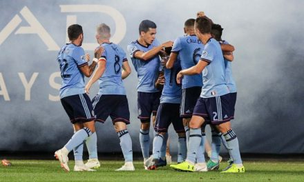 NOT THE PRETTIEST WIN: But it all counts the same in the standings for NYCFC