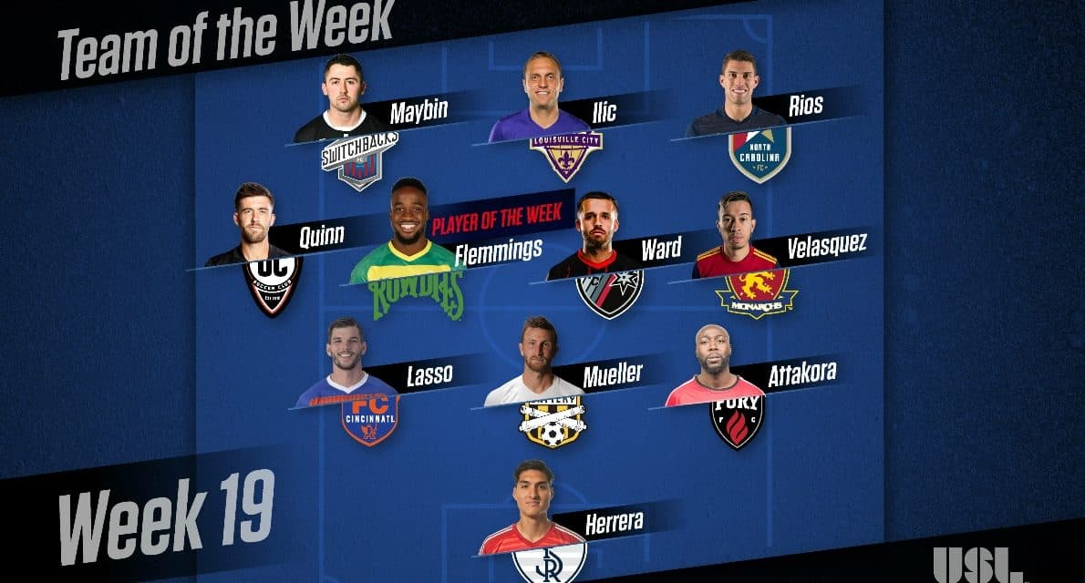 JUNIOR'S ACHIEVEMENT: Rowdies' Flemmings named USL player of the week