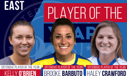 SHARING THE WEALTH: Lady Lancers' Barbuto UWS East Conference co-offensive player of the year