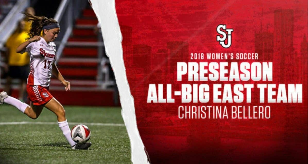 PRESEASON HONORS: Bellero on Big East team; St. John's women picked for 6th