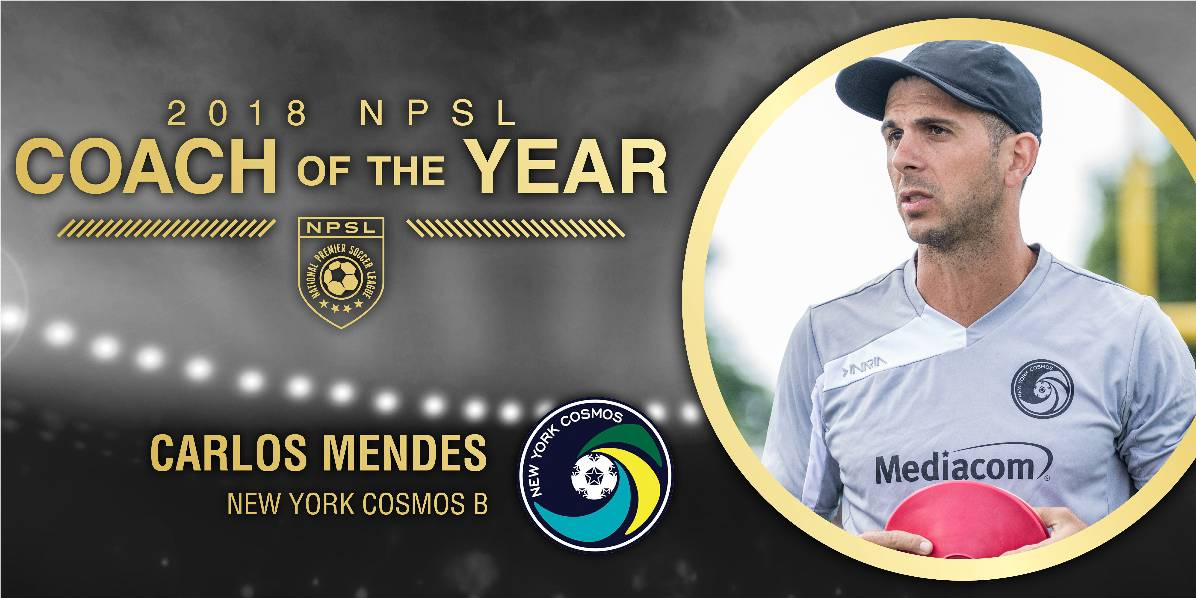 FROM ROOKIE COACH TO TOP COACH: Cosmos B's Mendes earns NPSL's coach of the year