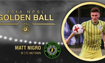 HE'S HAVING A (GOLDEN) BALL: NPSL names FC Motown's Nigro as its MVP