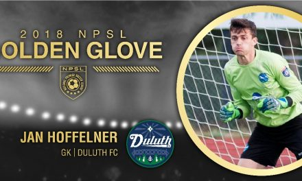 THE MAN WITH THE GOLDEN GLOVE: Duluth FC's Hoffelner NPSL's top goalkeeper