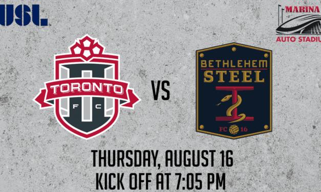 ONE LAST TIME: Toronto FC II vs. Bethlehem at Marina Auto Stadium Thursday
