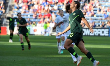 BLANKING THEIR RIVALS: Australian women shut out Japan, 2-0, in Tournament of Nations