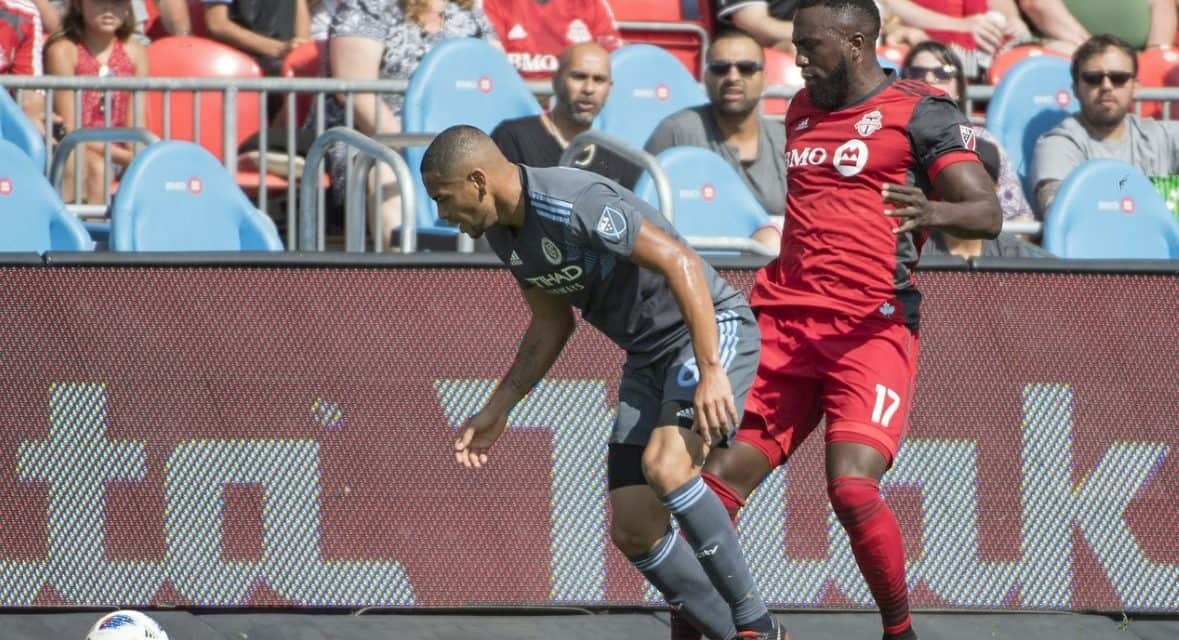 GETTING BY: NYCFC dodges a bullet on Tajouri-Shradi's late goal to survive 3-2 win over 10-man Toronto FC