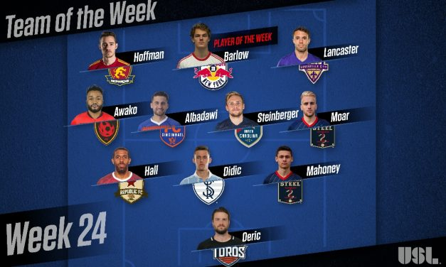 LEAGUE HONORS: USL names Red Bull II's Barlow player of the week