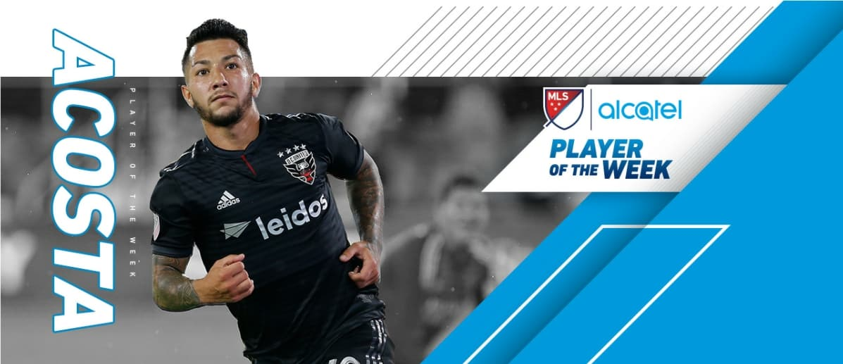 HAT'S OFF TO ACOSTA: MLS named D.C.'s Acosta (hat-trick) player of the week