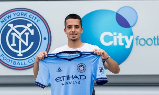 ONE HELL OF A JUMP: Bedoya moves from Rough Riders (4th division) to NYCFC (1st division)