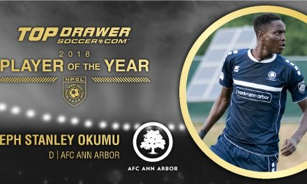 NO ORDINARY JOSEPH: AFC Ann Arbor defender Okumu named TopDrawerSoccer.com NPSL player of year