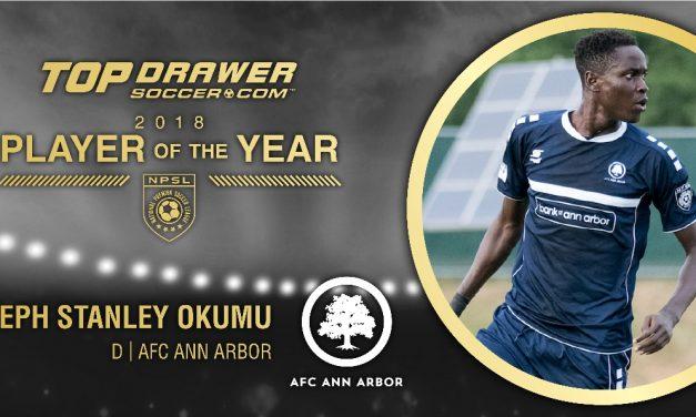 NO ORDINARY JOSEPH: AFC Ann Arbor defender Okumu named TopDrawerSoccer.com NPSL player of year
