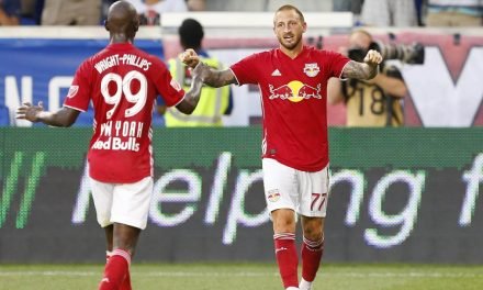 TAKING THE LEAD: Royer's dramatic goal lifts Red Bulls into first place